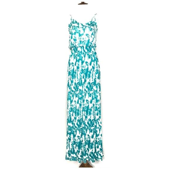 Lush Dresses & Skirts - Lush Green White Tie Dye Maxi Dress A030682